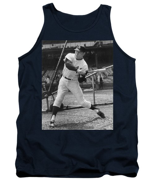Mickey Mantle Poster Tank Top by Gianfranco Weiss