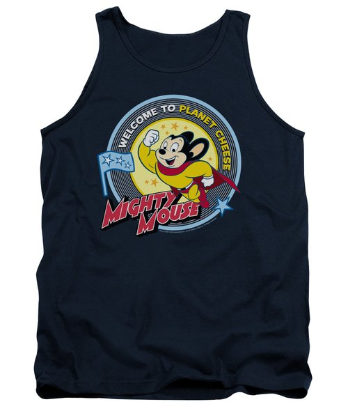 Mighty Mouse - Planet Cheese Tank Top by Brand A