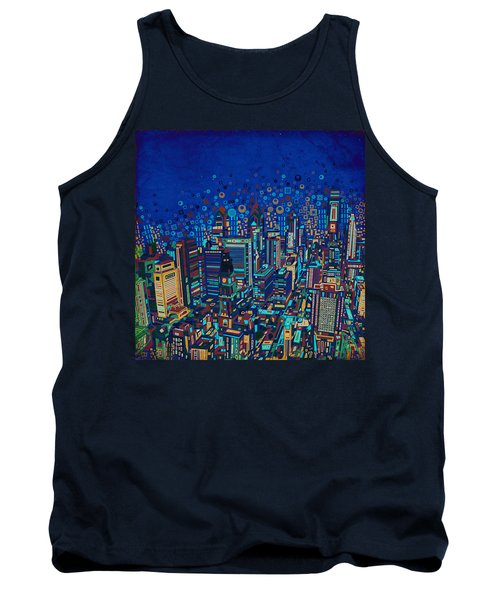 Philadelphia Panorama Pop Art 2 Tank Top by Bekim Art
