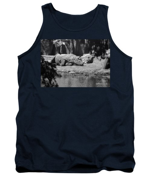 Rhino Nap Time Tank Top by Thomas Woolworth