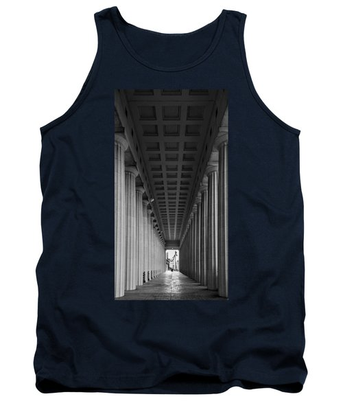 Soldier Field Colonnade Chicago B W B W Tank Top by Steve Gadomski