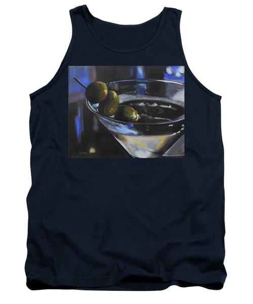 Three Olive Martini Tank Top by Donna Tuten