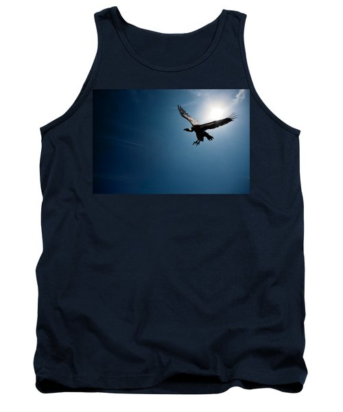 Vulture Flying In Front Of The Sun Tank Top by Johan Swanepoel