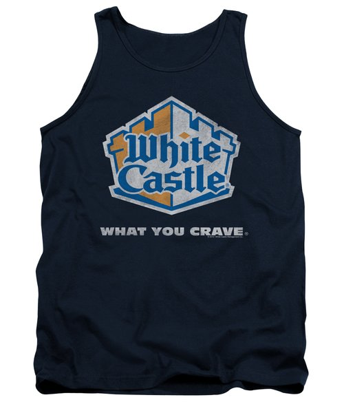 White Castle - Distressed Logo Tank Top by Brand A