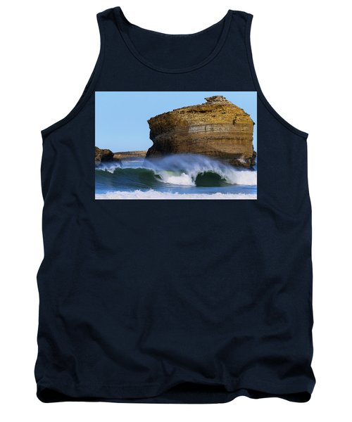 Tank Top featuring the photograph The Wave by Thierry Bouriat
