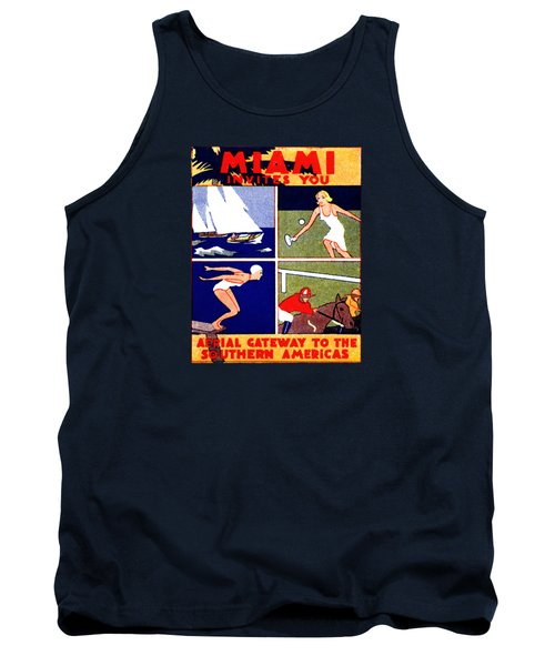 1925 Miami Travel Poster Tank Top by Historic Image