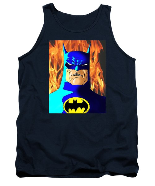 Old Batman Tank Top by Salman Ravish