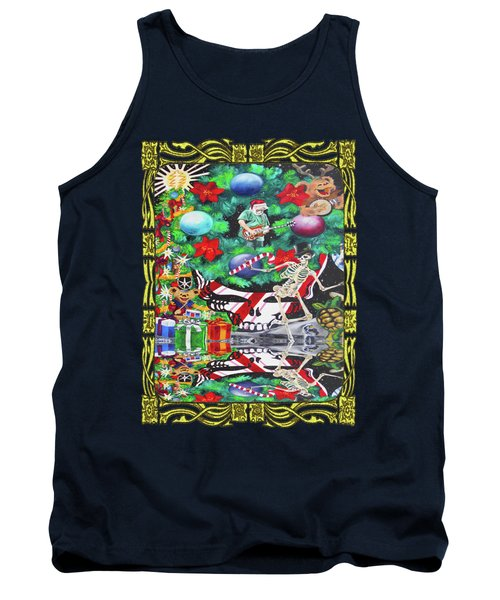 Christmas On The Moon Tank Top by Kevin J Cooper Artwork