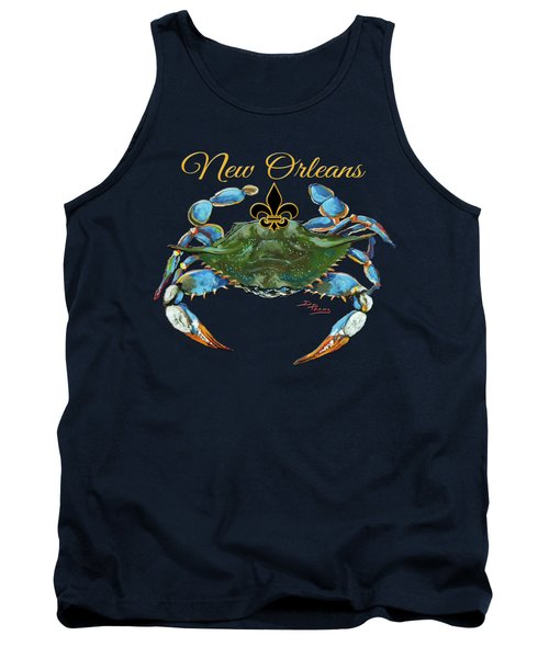 Louisiana Blue On Red Tank Top by Dianne Parks