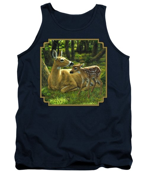 Whitetail Deer - First Spring Tank Top by Crista Forest