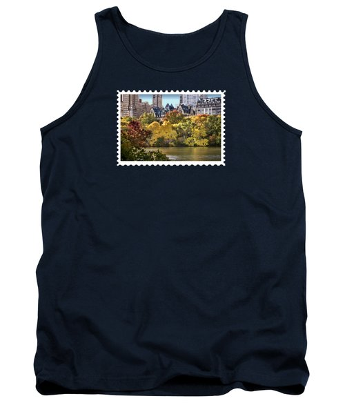 Central Park Lake In Fall Tank Top by Elaine Plesser