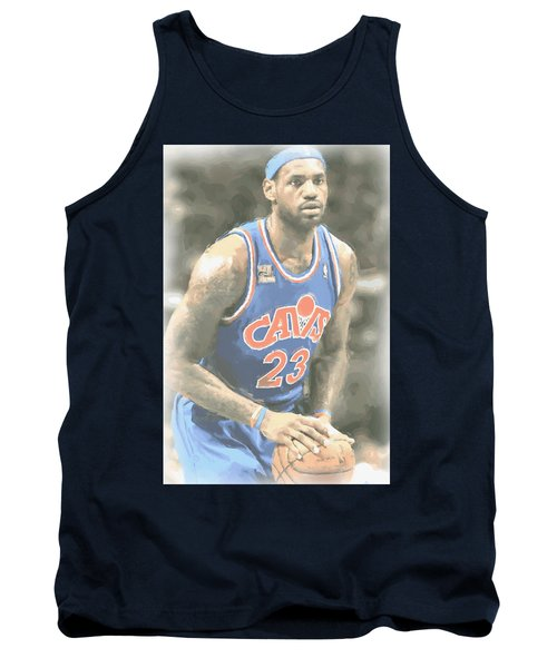 Cleveland Cavaliers Lebron James 1 Tank Top by Joe Hamilton