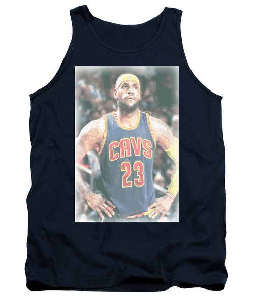Cleveland Cavaliers Lebron James 5 Tank Top by Joe Hamilton