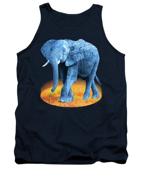 Elephant - World On Fire Tank Top by Gill Billington