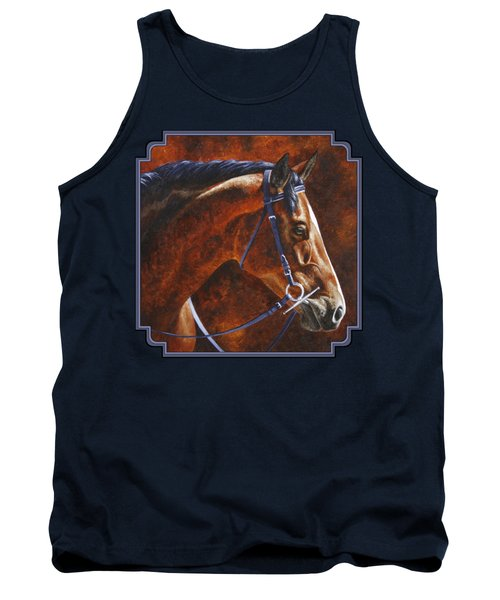 Horse Painting - Ziggy Tank Top by Crista Forest