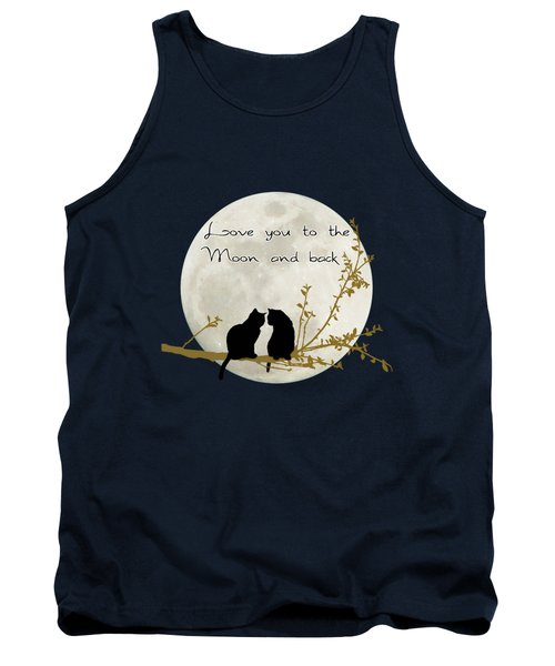 Love You To The Moon And Back Tank Top by Linda Lees