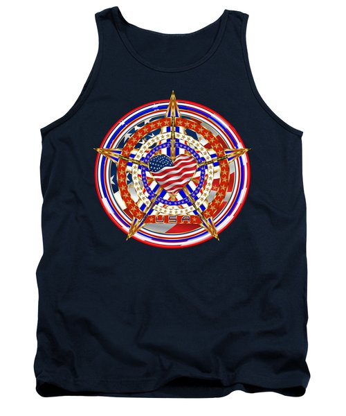 Patriotic For You America Where It Loud And Proud Tank Top by Bill Campitelle