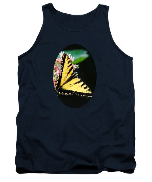 Swallowtail Butterfly And Milkweed Flowers Tank Top by Christina Rollo