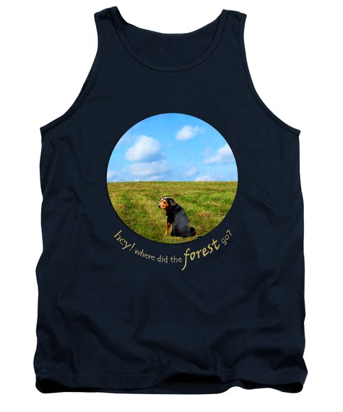 Where Did The Forest Go Tank Top by Christina Rollo