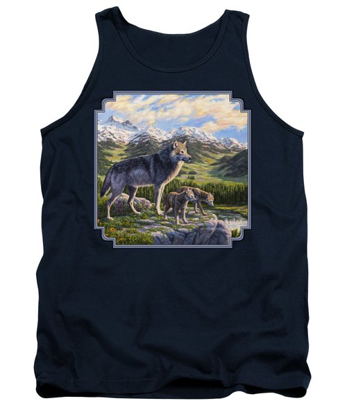 Wolf Painting - Passing It On Tank Top by Crista Forest