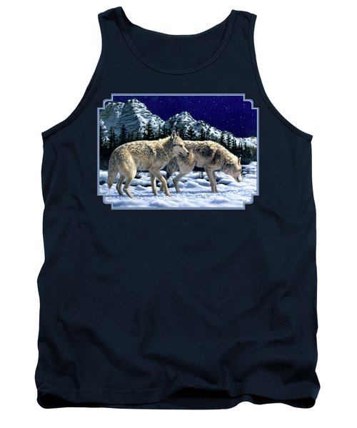 Wolves - Unfamiliar Territory Tank Top by Crista Forest