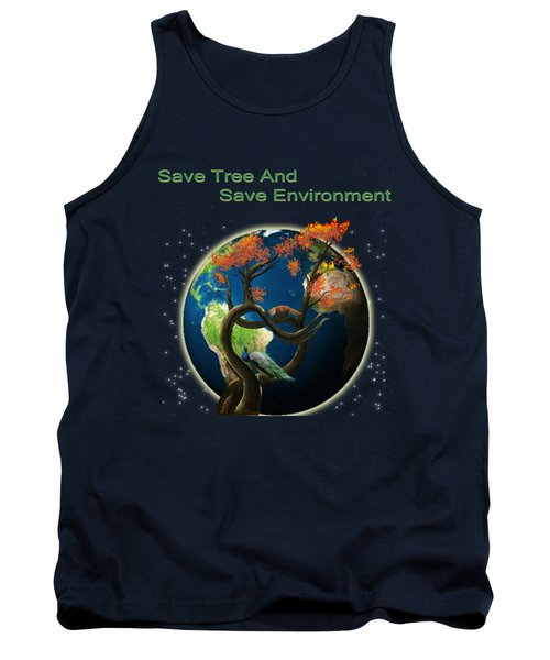 World Needs Tree Tank Top by Artist Nandika  Dutt