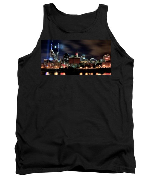 Nashville Panoramic View Tank Top by Frozen in Time Fine Art Photography