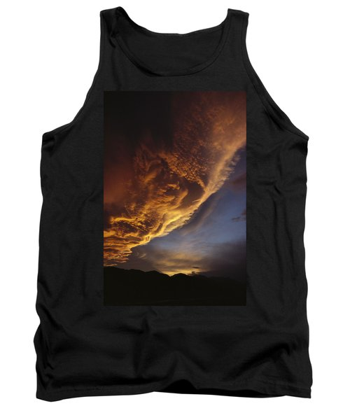 Sunset On Storm Clouds Near Mt Cook Tank Top by Ian Whitehouse