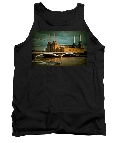 Pink Floyd Pig At Battersea Tank Top by Dawn OConnor