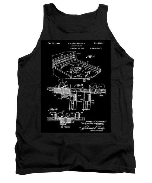 Pinball Machine Patent 1939 - Black Tank Top by Stephen Younts