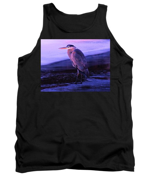A Heron On The Moyie River Tank Top by Jeff Swan