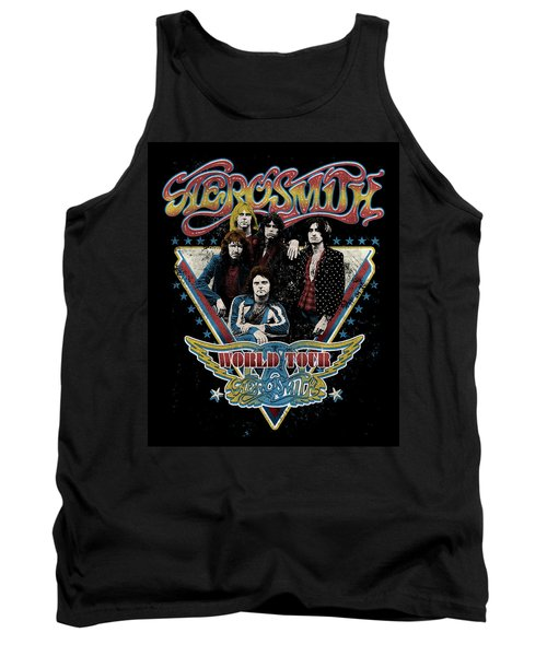 Aerosmith - World Tour 1977 Tank Top by Epic Rights