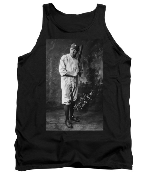 Babe 'the Sultan Of Swat' Ruth  1920 Tank Top by Daniel Hagerman
