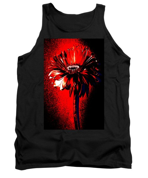 Bloody Mary Zinnia Tank Top by Sherry Allen