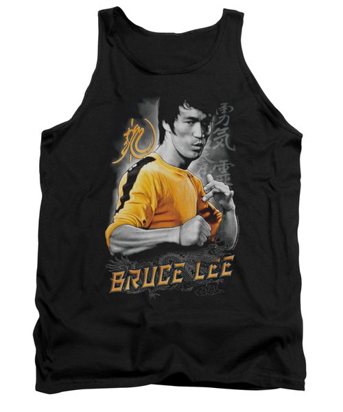 Bruce Lee - Yellow Dragon Tank Top by Brand A