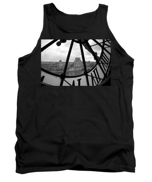 Clock At Musee D'orsay Tank Top by Chevy Fleet