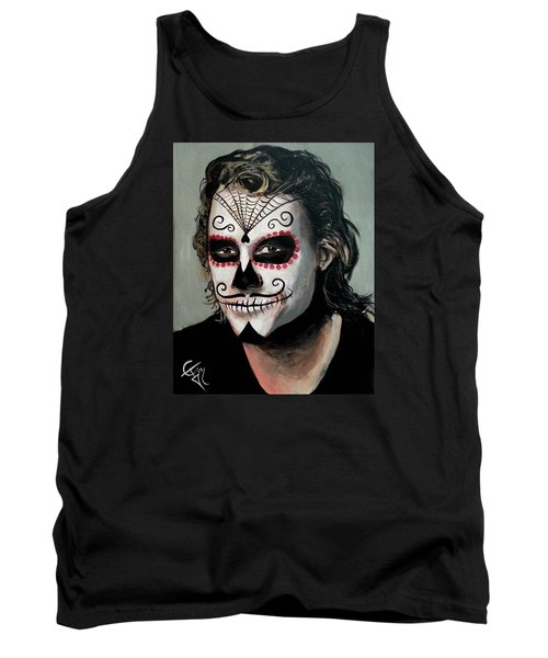 Day Of The Dead - Heath Ledger Tank Top by Tom Carlton
