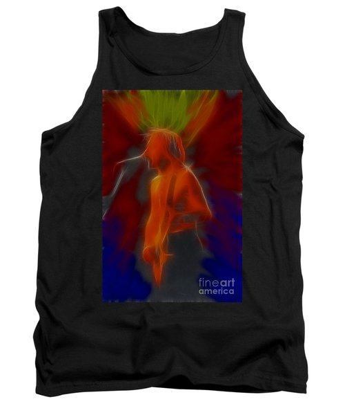 Def Leppard-adrenalize-gb13-phil-fractal Tank Top by Gary Gingrich Galleries