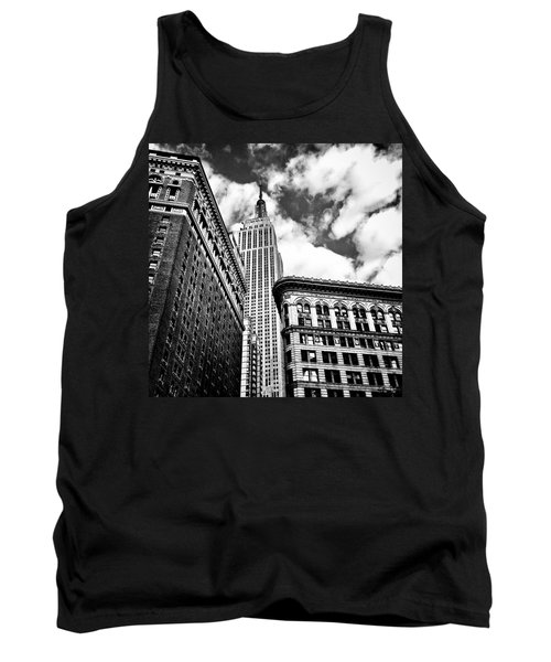 Empire State Building And New York City Skyline Tank Top by Vivienne Gucwa