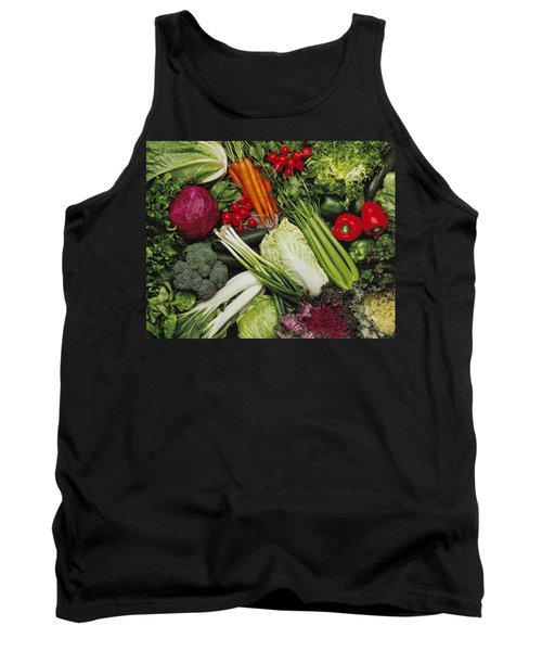 Food- Produce, Mixed Vegetables Tank Top by Ed Young
