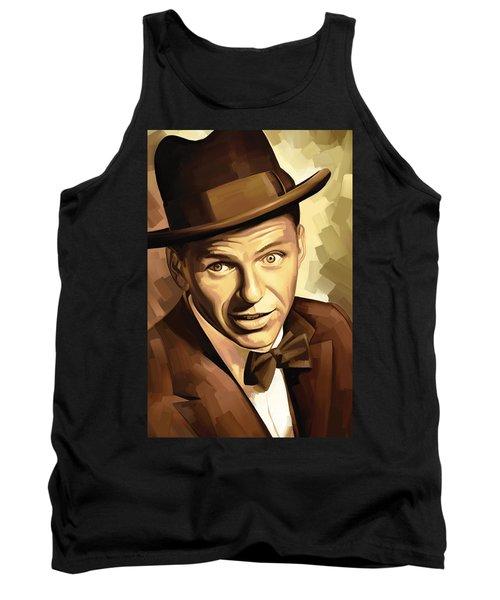Frank Sinatra Artwork 2 Tank Top by Sheraz A