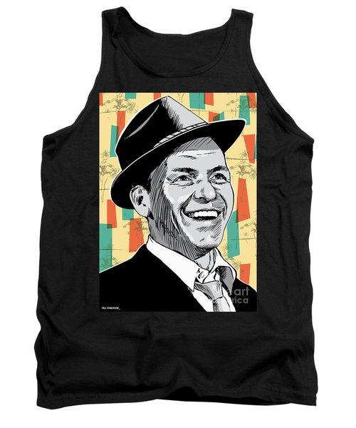 Frank Sinatra Pop Art Tank Top by Jim Zahniser
