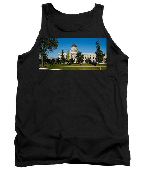 Garden In Front Of Utah State Capitol Tank Top by Panoramic Images