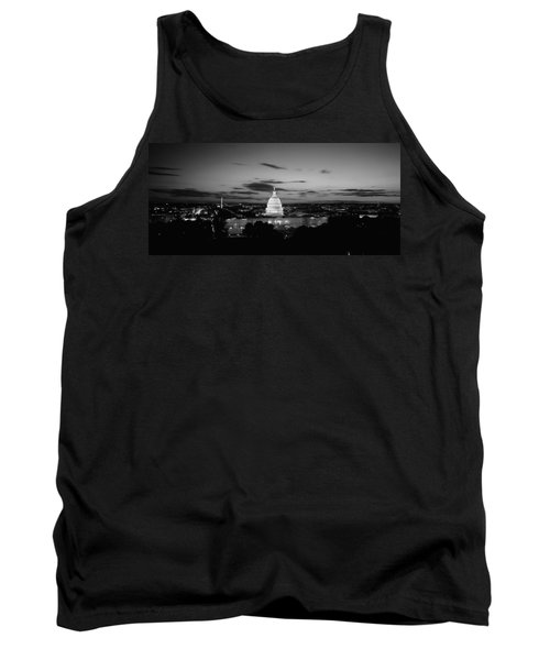 Government Building Lit Up At Night, Us Tank Top by Panoramic Images
