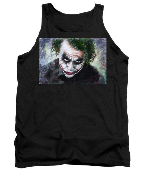 Heath Ledger The Dark Knight Tank Top by Viola El