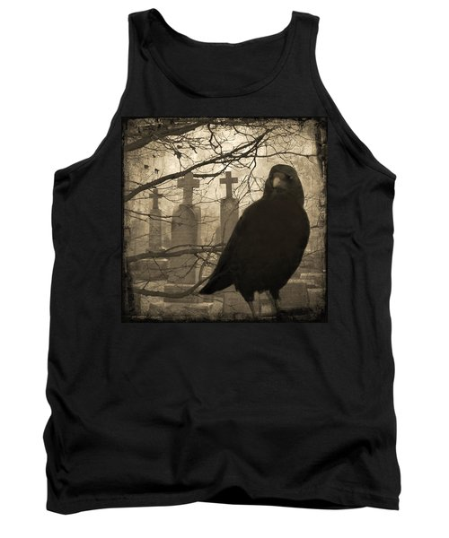 Her Graveyard Tank Top by Gothicrow Images
