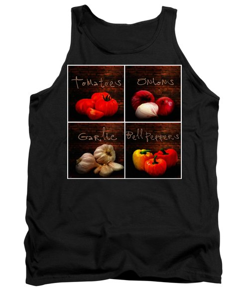 Kitchen Ingredients Collage II Tank Top by Lourry Legarde