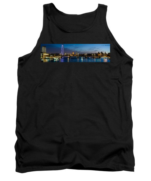 London Eye And Central London Skyline Tank Top by Panoramic Images