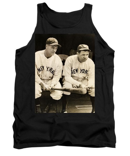 Lou Gehrig And Babe Ruth Tank Top by Bill Cannon
