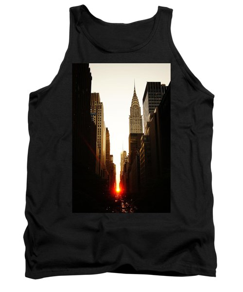 Manhattanhenge Sunset And The Chrysler Building  Tank Top by Vivienne Gucwa